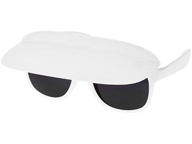 Очки с козырьком Miami, белый/черный