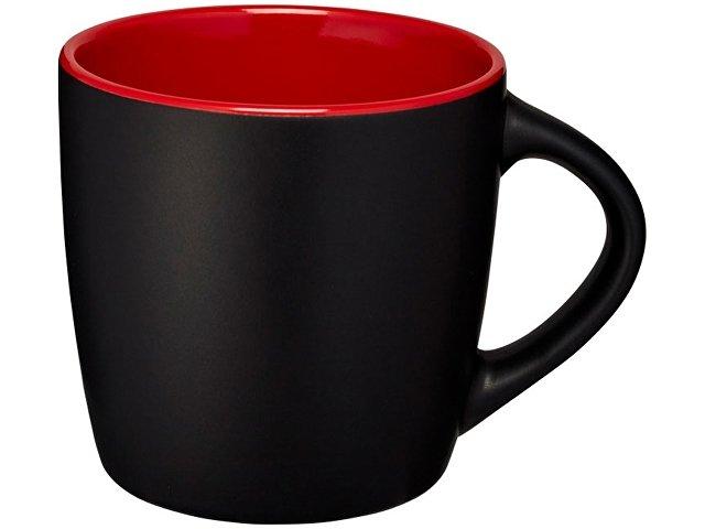 Керамическая чашка Riviera, черный/красный