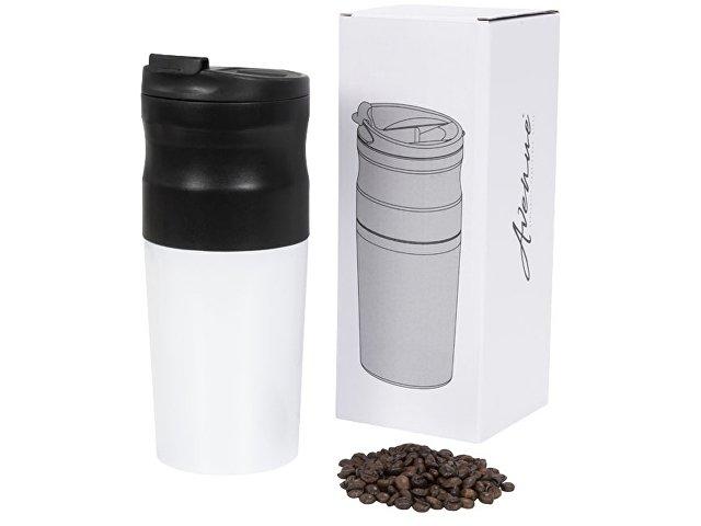 Кофемолка-кофеварка, белый/черный