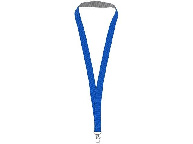 Двухцветный шнурок Aru с застежкой на липучке, ярко-синий/серый