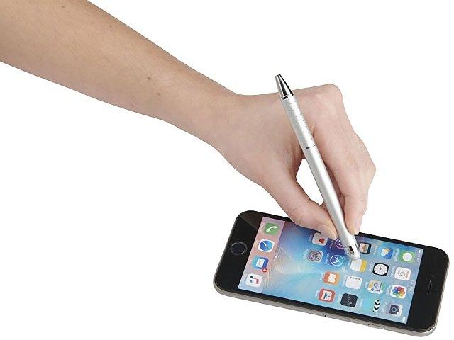 Алюминиевая глазурованная шариковая ручка, серый