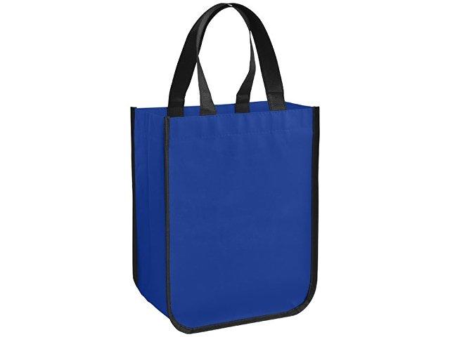 Маленькая ламинированная сумка для покупок, ярко-синий