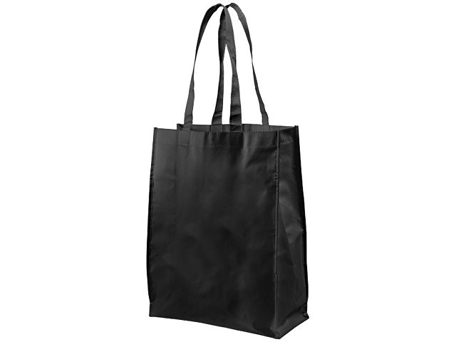 Ламинированная сумка для покупок среднего размера, черный