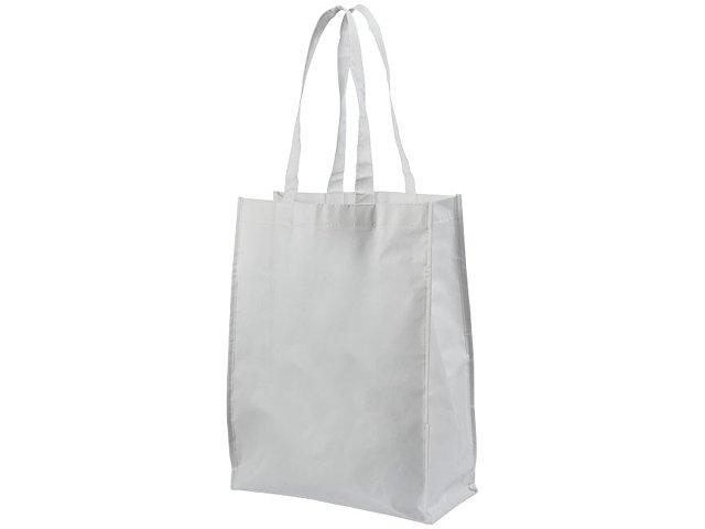Ламинированная сумка для покупок среднего размера, белый