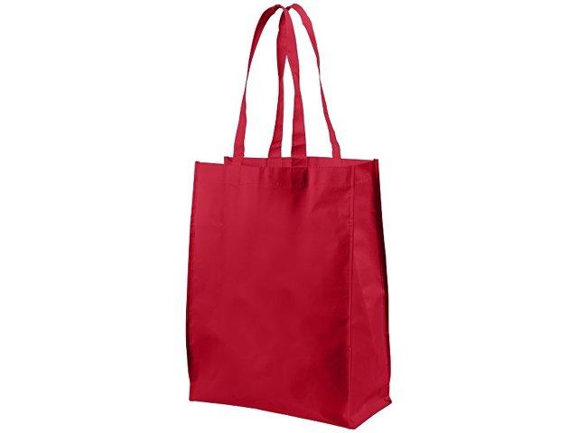 Ламинированная сумка для покупок среднего размера, красный