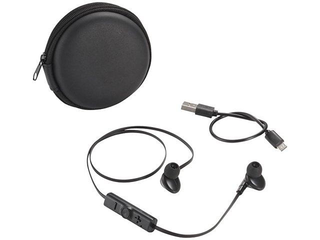 Sonic наушники с Bluetooth® в переносном футляре, черный