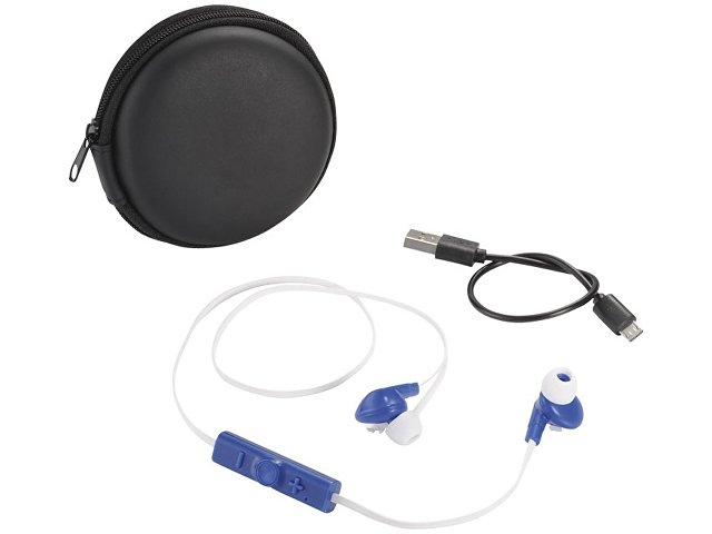 Sonic наушники с Bluetooth® в переносном футляре, белый/ярко-синий/черный