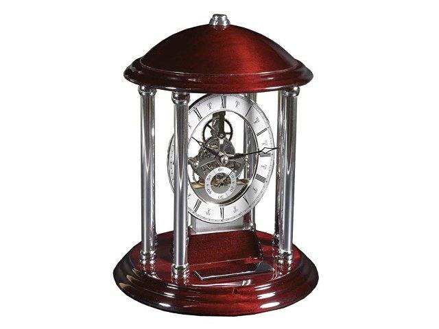 Часы «Его превосходительство», серебристый/красное дерево