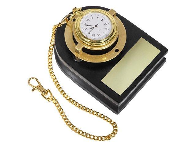 Часы «Магистр» на деревянной подставке с цепочкой для ношения в кармане, золотистый/красное дерево
