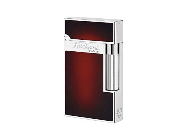 Зажигалка Atelier Sunburst 1953. S.T. Dupont, красный, серебристый