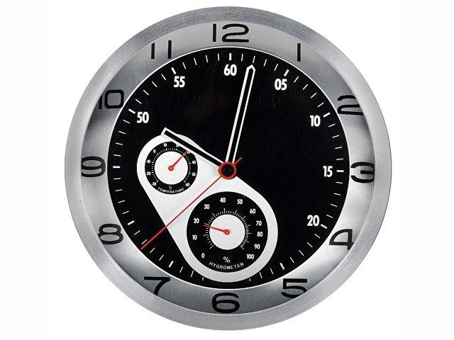 Часы настенные «Астория», серебристый/черный