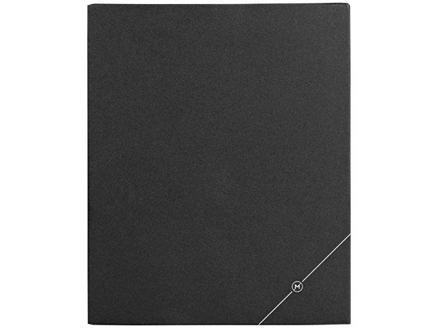Подарочная коробка для блокнота А6 и ручки, черный