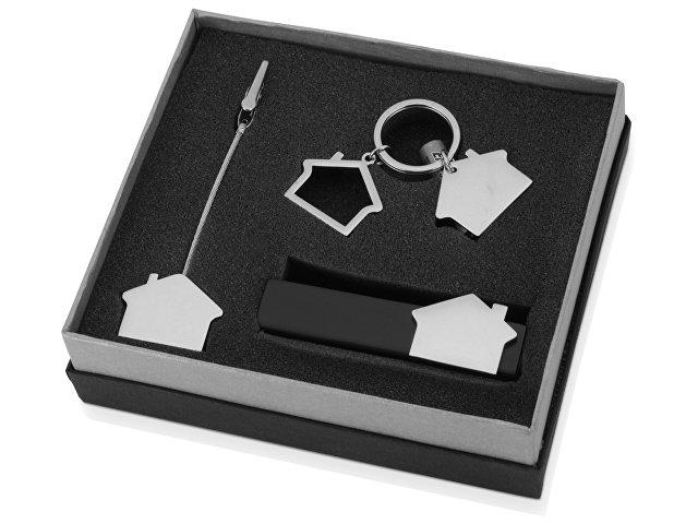 Набор аксессуаров «Хейз», серебристый/черный