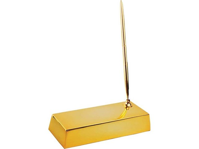 Настольный прибор «Золотой слиток», золотистый