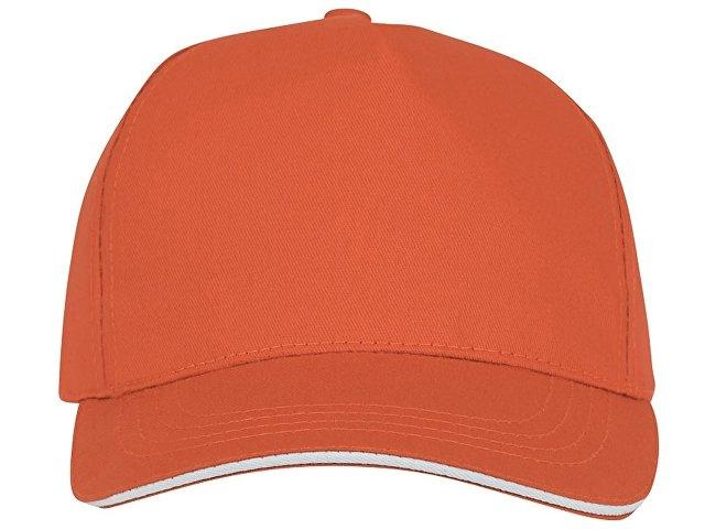 Пятипанельная кепка-сендвич Ceto, оранжевый