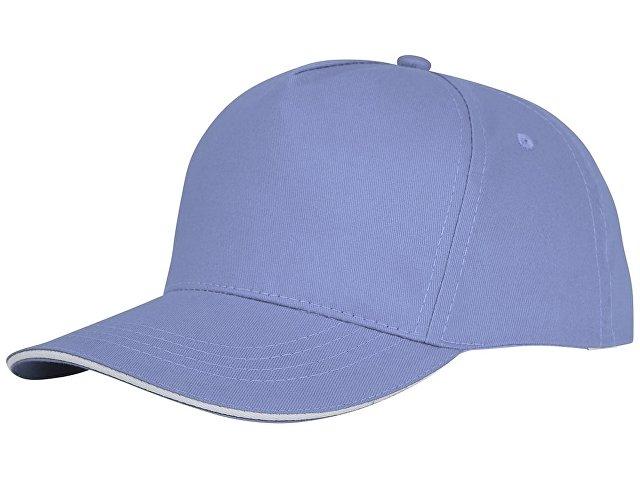 Пятипанельная кепка-сендвич Ceto, светло-синий