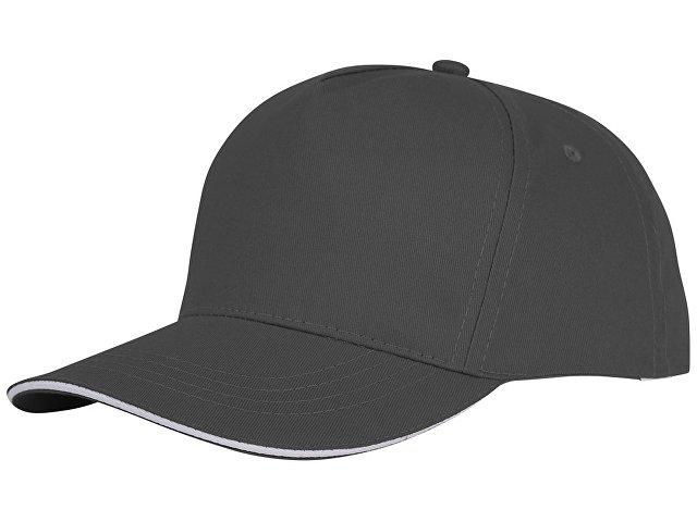 Пятипанельная кепка-сендвич Ceto, серый