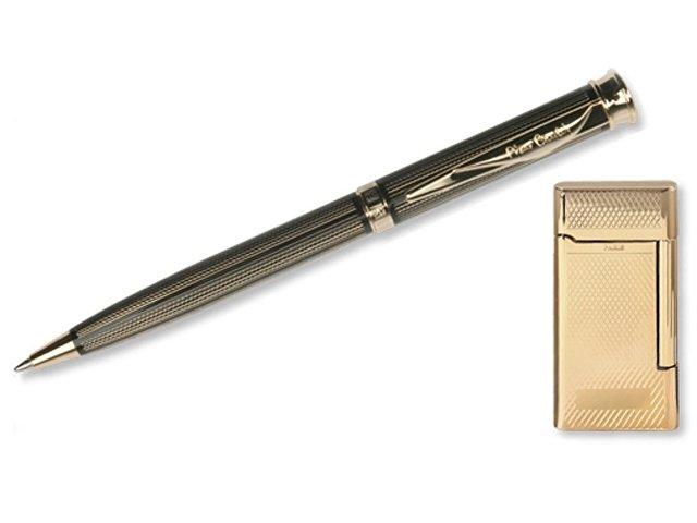 Набор: ручка шариковая, зажигалка. Pierre Cardin