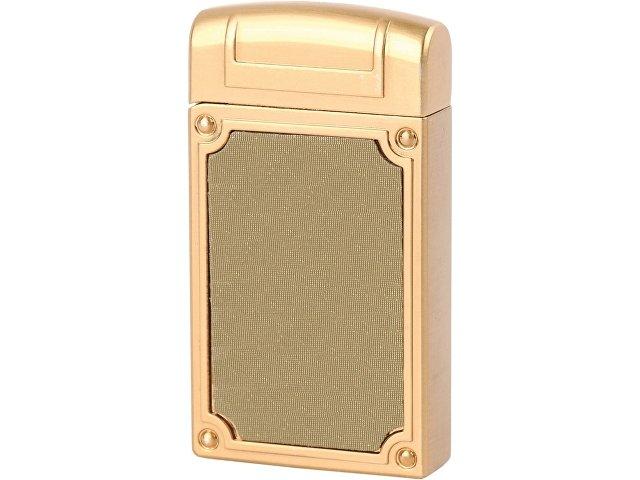 Зажигалка в деревянной коробке, золотистый/зеленый