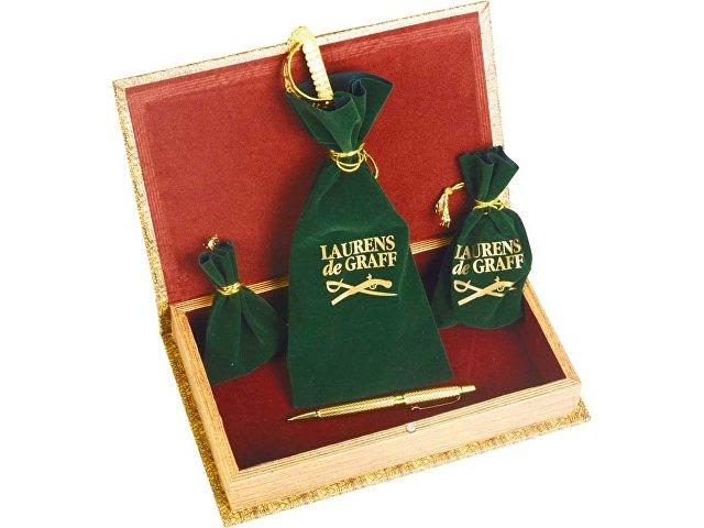 Набор: часы песочные, нож для бумаг, ручка шариковая, брелок-термометр «Клипер»