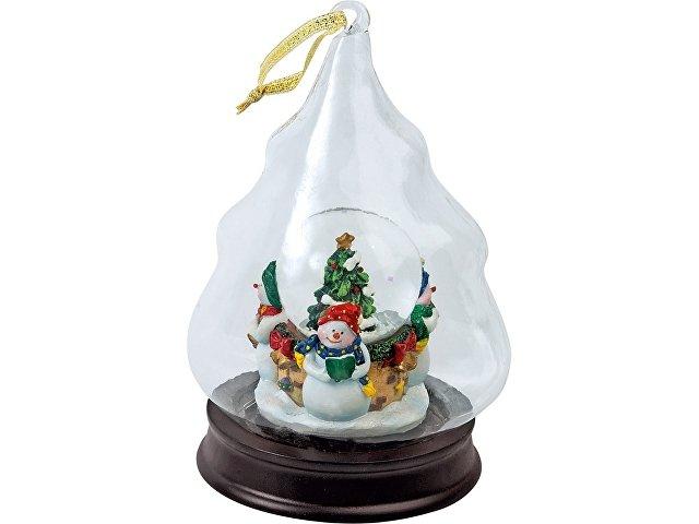 «Вот и выпал первый снег!» Новогоднее украшение в форме елки со снеговиками