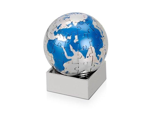 Головоломка «Земной шар», серебристый/голубой