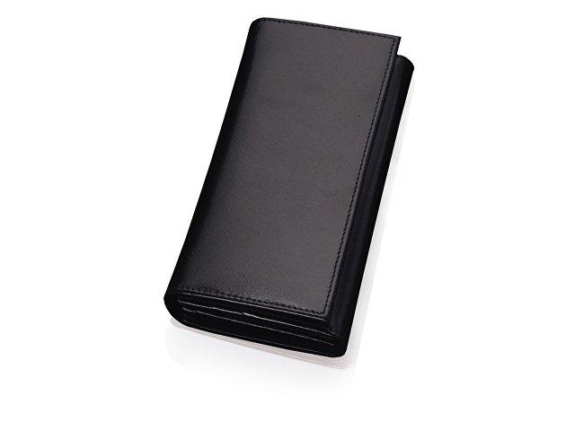 Портмоне дамское с отделениями для банкнот, кредитных карт и монет, черный