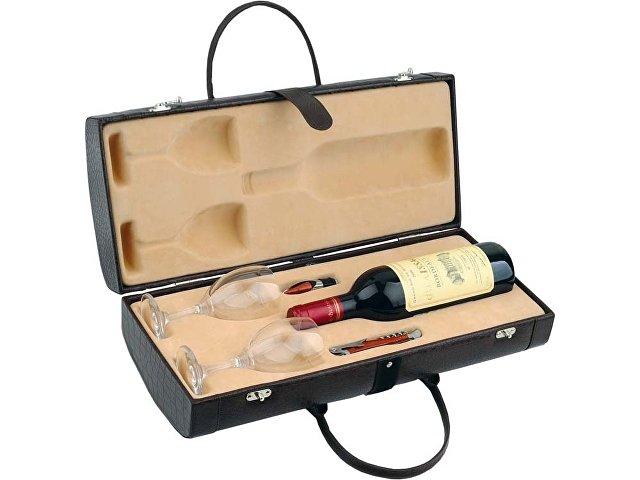 Тубус для вина с винными аксессуарами «Рислинг», коричневый