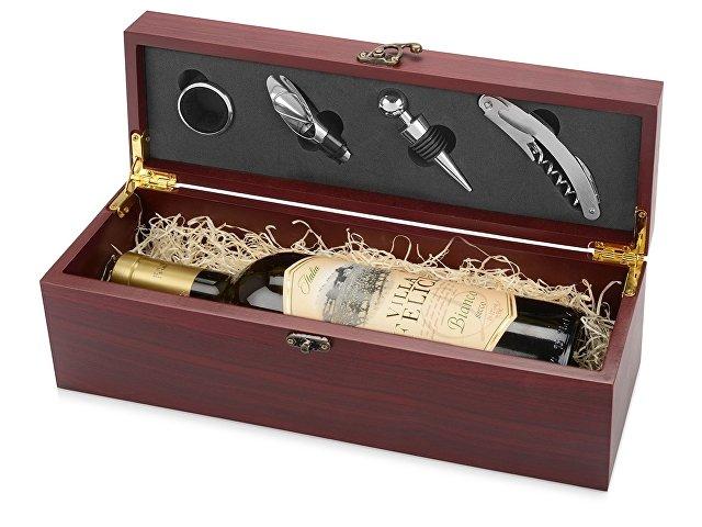 Набор аксессуаров для вина «Венге», коричневый