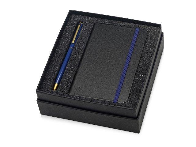 Набор Reporter с ручкой и блокнотом А6, синий