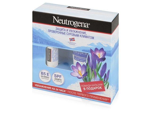 Набор Neutrogena «Норвежская формула»: крем-уход для рук 75мл, бальзам-помада 4,8г. J&J