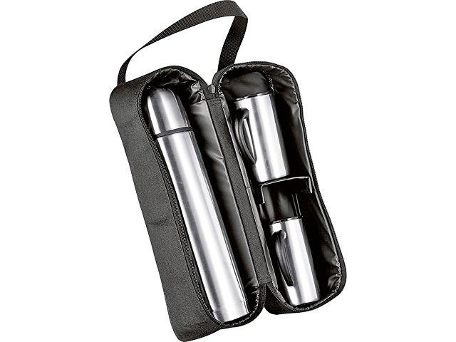Термос на 1000 мл, 2 кружки на 300 мл в дорожной сумке