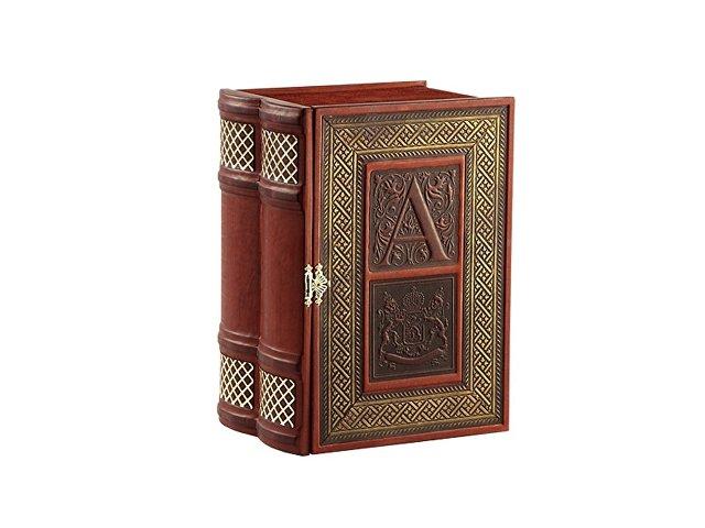 Книга-бар малый (натуральная кожа)