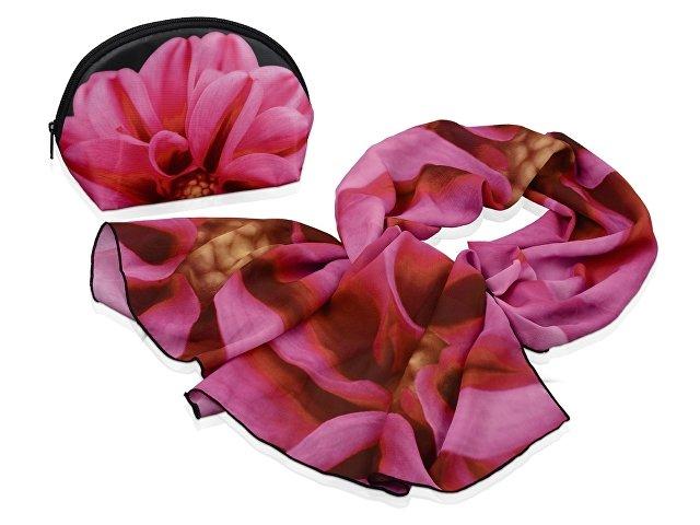 Набор «Георгин»: косметичка и шарф