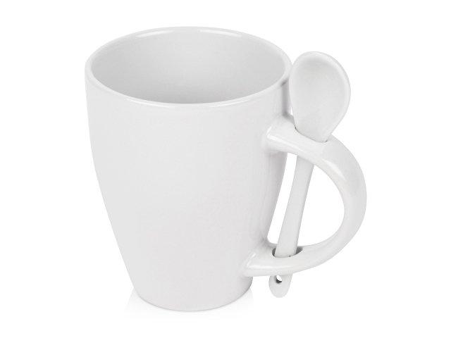 Кружка «Авеленго» с ложкой, белый