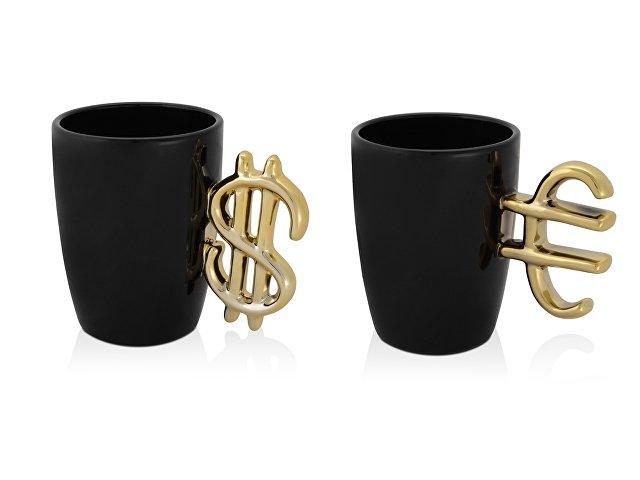 Набор «Финансист»: кружка «Доллар» и кружка «Евро» на 300 мл в подарочной коробке