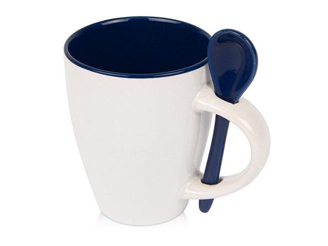 Кружка «Авеленго» с ложкой, синий