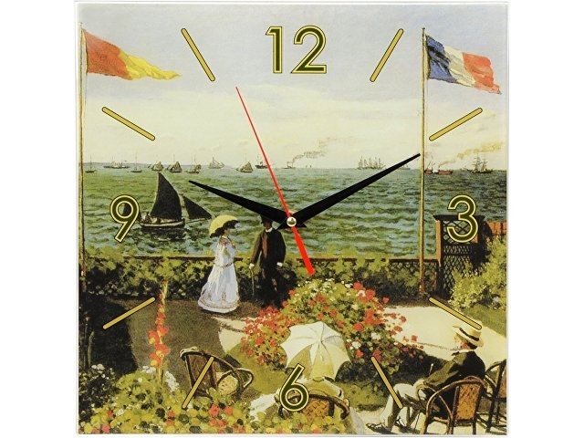 Часы настенные «Моне. Сад в Сент-Андрес», зеленый