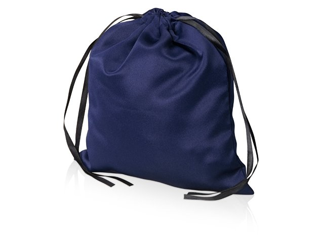 Мешочек подарочный сатиновый L, темно-синий