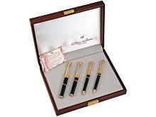 Набор: ручка перьевая, ручка роллер, ручка шариковая, механический карандаш (арт. 34162)