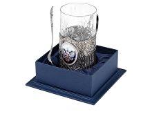 Подстаканник с хрустальным стаканом и ложкой «Российский» (арт. 5573)