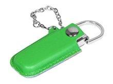 USB-флешка на 16 Гб в массивном корпусе с кожаным чехлом (арт. 6214.16.03)