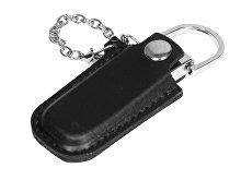 USB-флешка на 16 Гб в массивном корпусе с кожаным чехлом (арт. 6214.16.07)