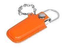 USB-флешка на 32 Гб в массивном корпусе с кожаным чехлом (арт. 6214.32.08)