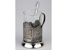 Набор «Герб России»: стакан с подстаканником и ложкой (арт. 82701)