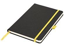 Блокнот А5 «Lasercut», черный/желтый
