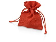 Мешочек подарочный, искусственный лен, малый, красный