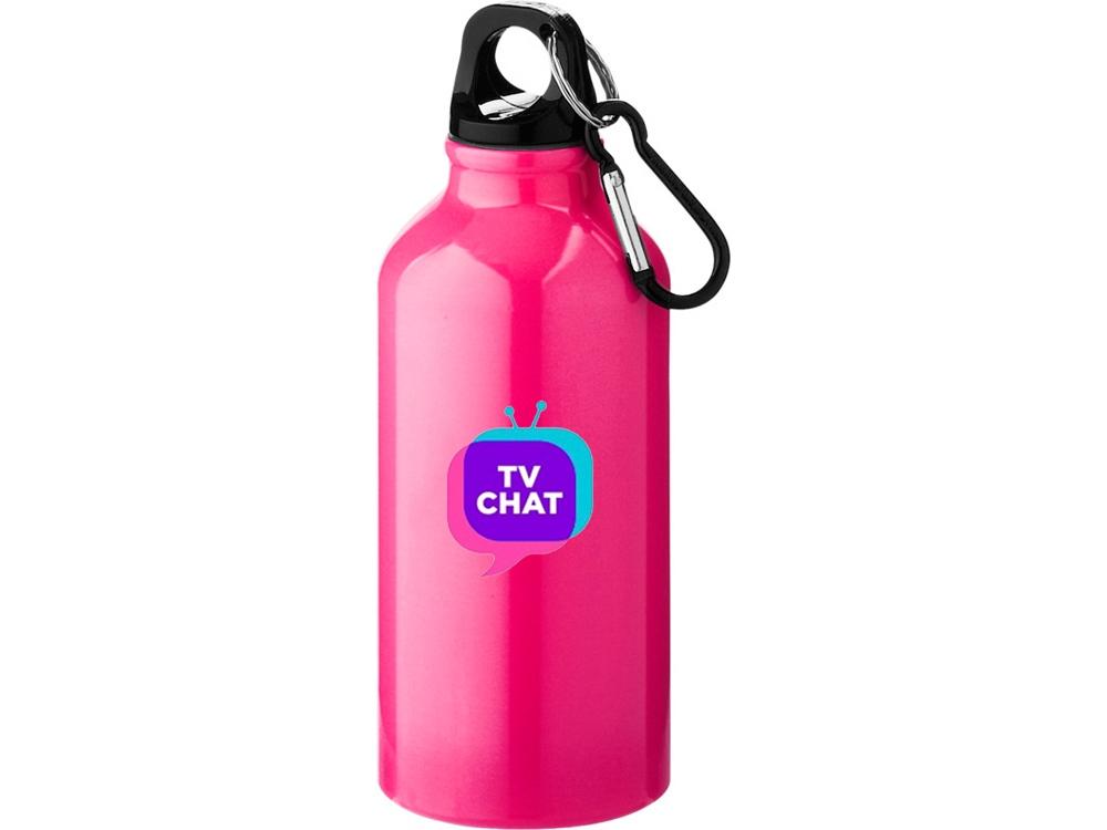 Бутылка Oregon с карабином, неоновый розовый
