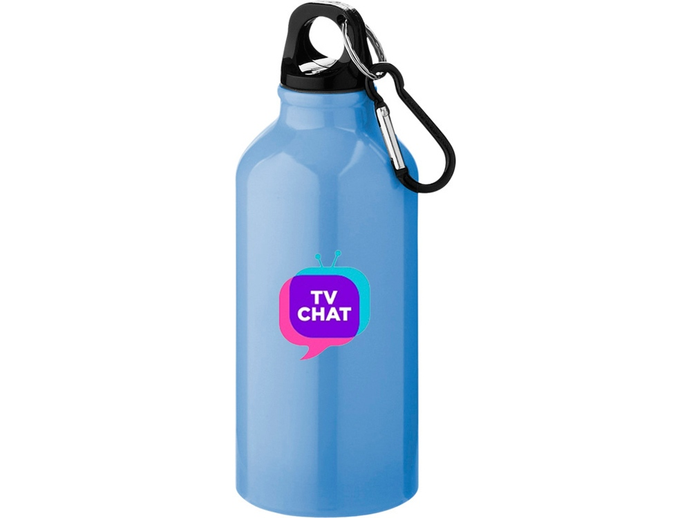 Бутылка Oregon с карабином, светло-синий