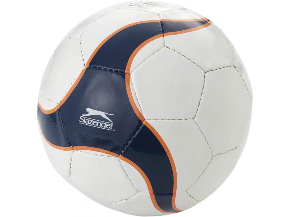 Мяч футбольный, размер 5, белый/темно-синий